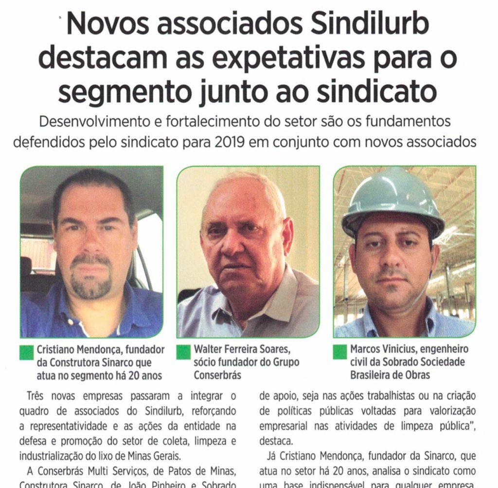 Conserbras associa-se ao SINDLURB e diretor presidente concede entrevista ao seu informativo