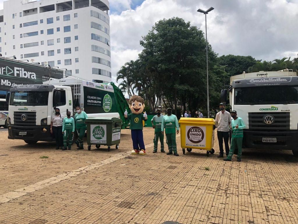 Com equipe feminina, Conserbras implanta em parceria com a Prefeitura, serviço de Coleta Seletiva de materiais recicláveis em Patos de Minas